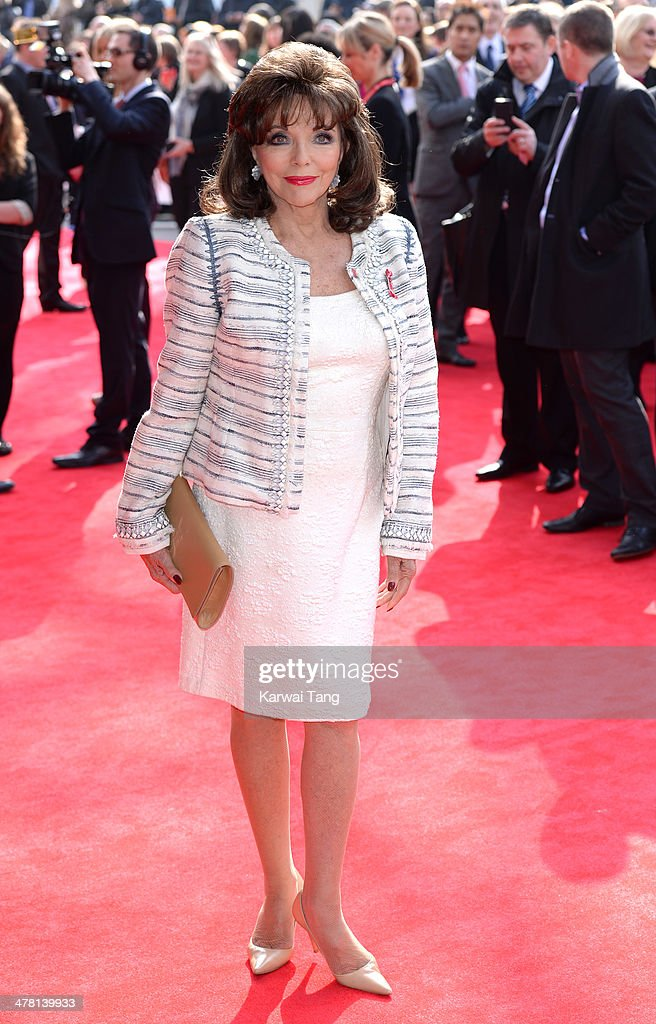 Joan Collins attends the Prince's Trust & Samsung Celebrate Success awards at Odeon Leicester Square on March 12, 2014 in London, England.