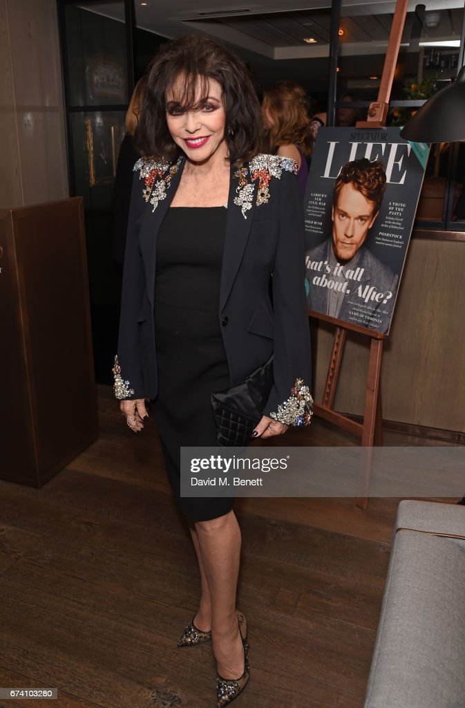 Joan Collins attends the Spectator Life 5th Birthday Party at the Hari Hotel on April 27, 2017 in London, England.