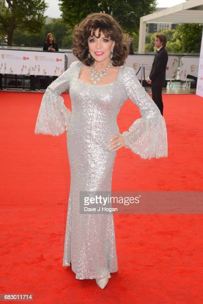 Joan Collins attends the Virgin TV BAFTA Television Awards at The Royal Festival Hall on May 14 2017 in London England