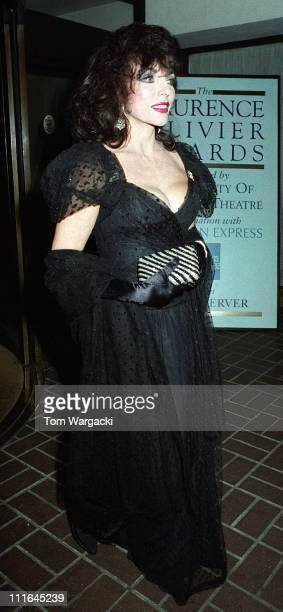Joan Collins during 1992 Laurence Olivier Awards April 26 1992 at Royal Lancaster Hotel in London Great Britain