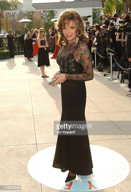 Joan Collins during 2006 Vanity Fair Oscar Party at Morton's in West Hollywood California United States