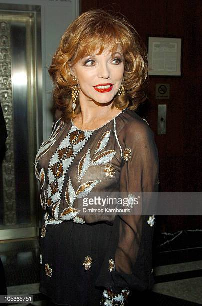 Joan Collins during 20th Annual Rita Hayworth Gala Arrivals at Waldorf Astoria in New York City New York United States
