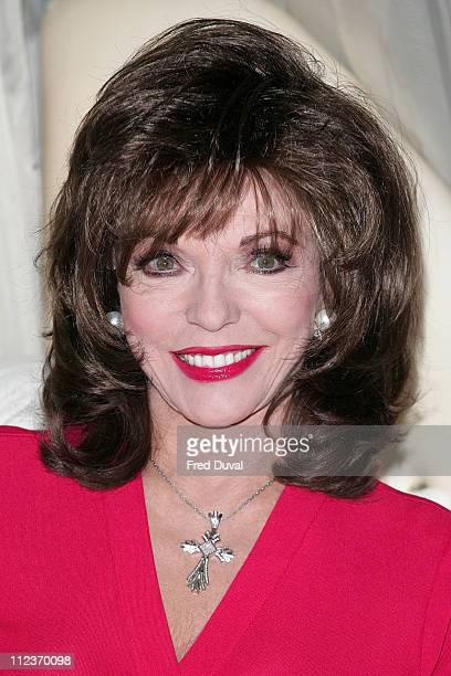 Joan Collins during 'An Evening with Joan Collins' Press Launch and Photocall at Tantra club 62 Kingly Street in London Great Britain