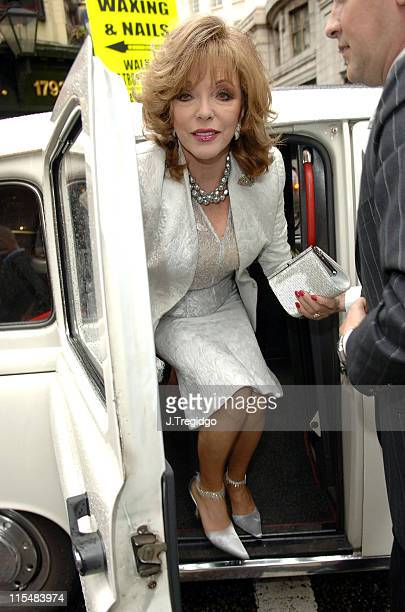 Joan Collins during 'Guys and Dolls' West End London Play Press Night at Piccadilly Theatre in London Great Britain