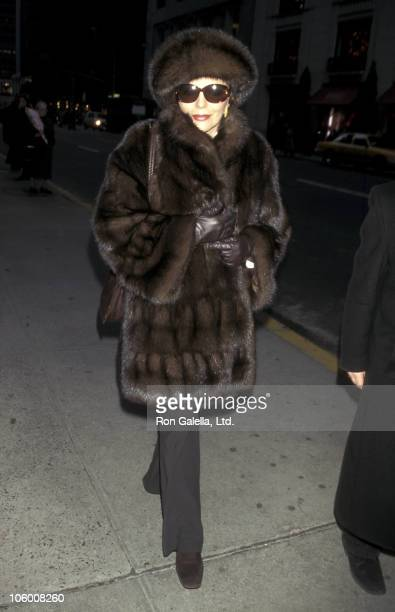 Joan Collins during Joan Collins on Madison Avenue in New York December 4 1997 at Madison Avenue in New York New York United States