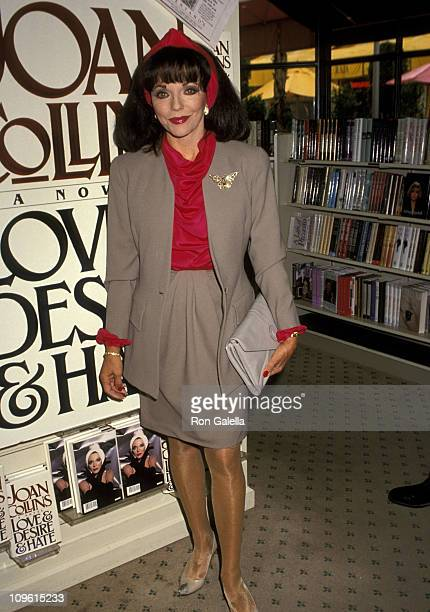 Joan Collins during Joan Collins Signs her Book 'Love and Desire and Hate' at Brentano's in Century City March 13 1991 at Brentano's in Century City...