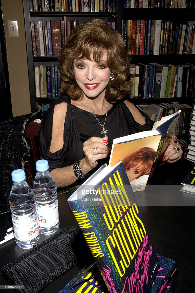 Joan Collins during Joan Collins Signs Her Book 'Misfortune's Daughters' at Book Soup in West Hollywood, California, United States.
