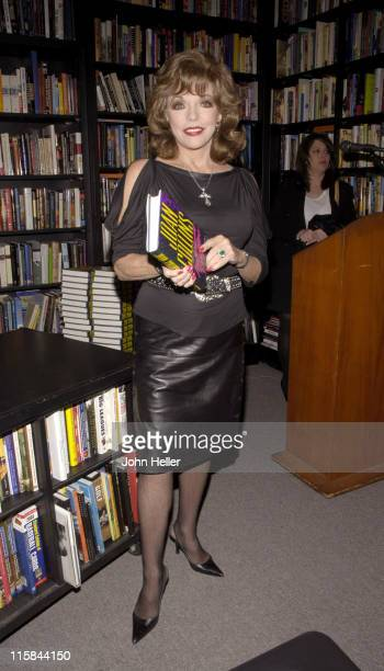 Joan Collins during Joan Collins Signs Her Book 'Misfortune's Daughters' at Book Soup in West Hollywood California United States