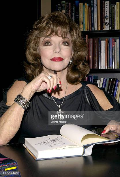 Joan Collins during Joan Collins Signs Her Book Misfortune's Daughters at Book Soup in West Hollywood California United States
