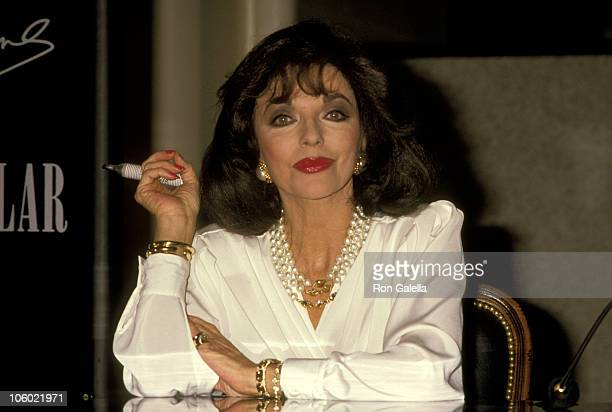 Joan Collins during Party for Joan Collins' Perfume 'Spectacular' November 11 1989 at The Broadway Glendale in Los Angeles California United States