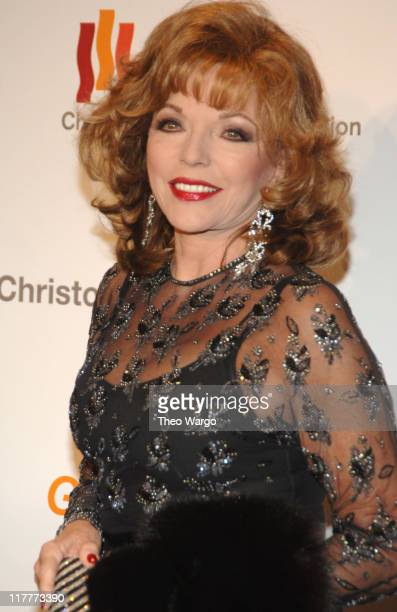 """Joan Collins during The Christopher Reeve Foundation's """"A Magical Evening"""" - Red Carpet at Marriott Marquis in New York, New York, United States."""