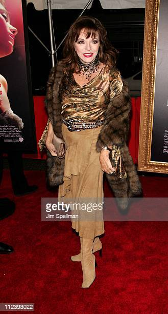 Joan Collins during The Phantom of the Opera New York City Premiere Outside Arrivals at Ziegfeld Theater in New York City New York United States