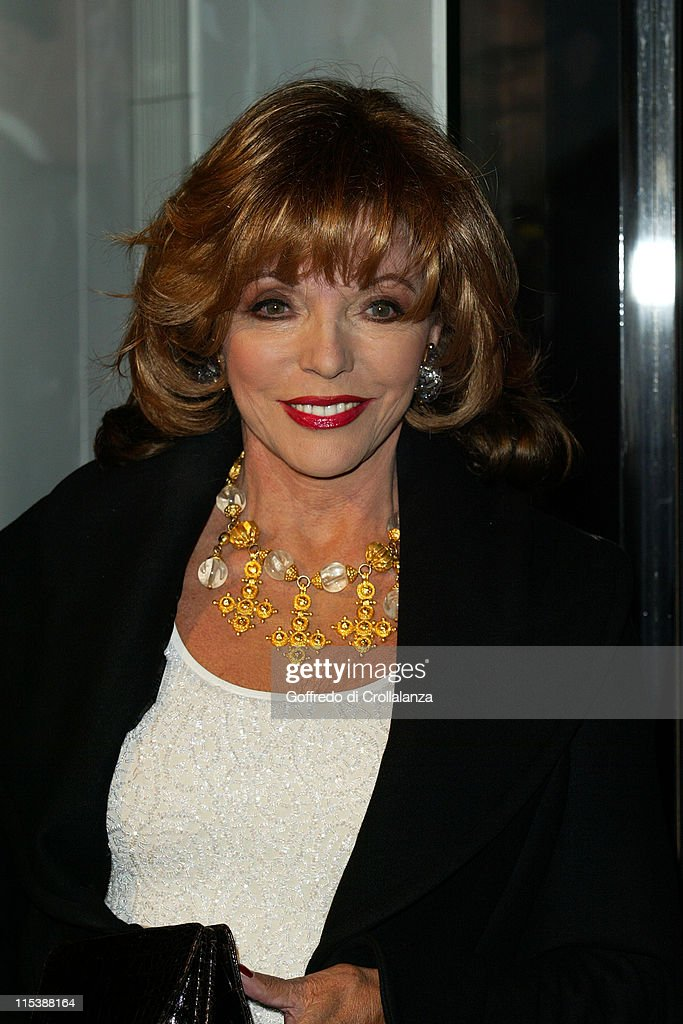 Joan Collins during Versace Store Relaunch Party at Versace Sloane Street in London, Great Britain.