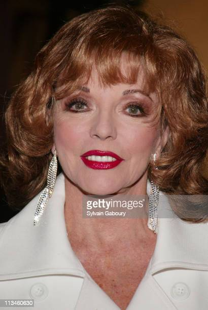 Joan Collins during Weinstein Company Screening of 'Mrs Henderson Presents' at The MGM Screening Room in New York New York United States