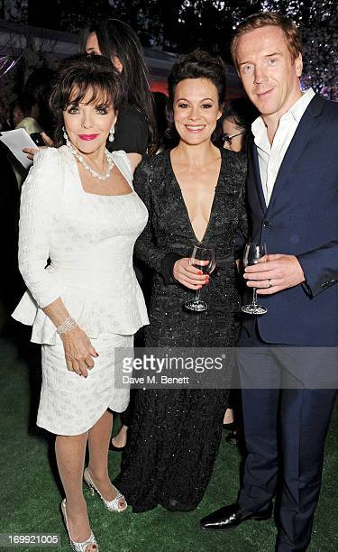 Joan Collins Helen McCrory and Damian Lewis attend an after party following the Glamour Women of the Year Awards in association with Pandora at...