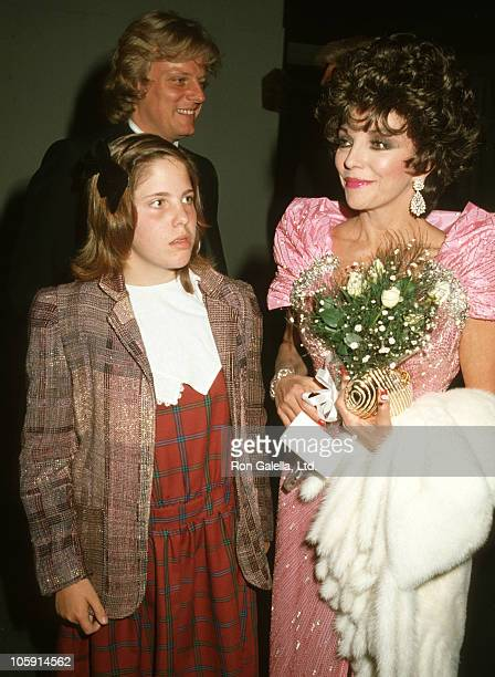 Joan Collins Husband Peter Holm and Daughter Katyana Kass