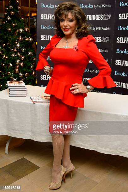 Joan Collins meets fans and signs copies of her book 'Passion For Life' at Selfridges on October 26 2013 in London England