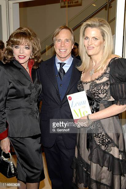 Joan Collins Nancy Davis and Tommy Hilfiger during Nancy Davis Book Release Party for Lean On Me March 27 2006 at H by Hilfiger in New York City New...