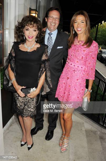 Joan Collins Percy Gibson and Heather Kerzner attend as Richard Caring and Sir Philip Green host Johnny Gold's 80th Birthday at 34 Grosvenor Square...