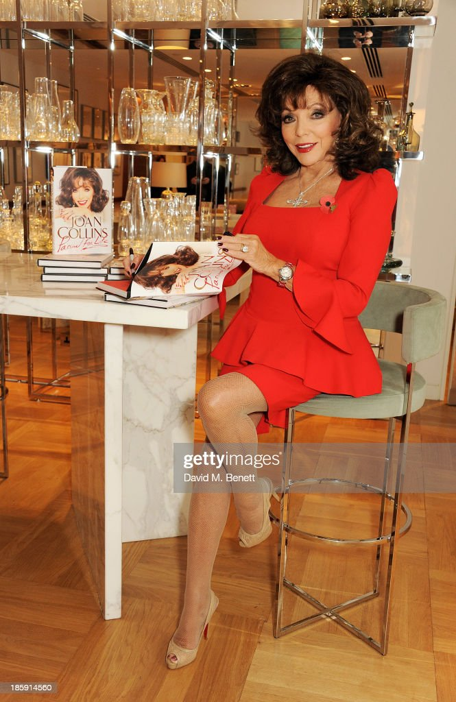 """""""Passion For Life"""" By Joan Collins - Book Signing At Selfridges : News Photo"""