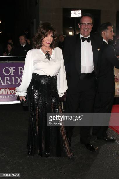 Joan Collins seen arriving at Pride of Britain Awards at Grosvenor House on October 30 2017 in London England