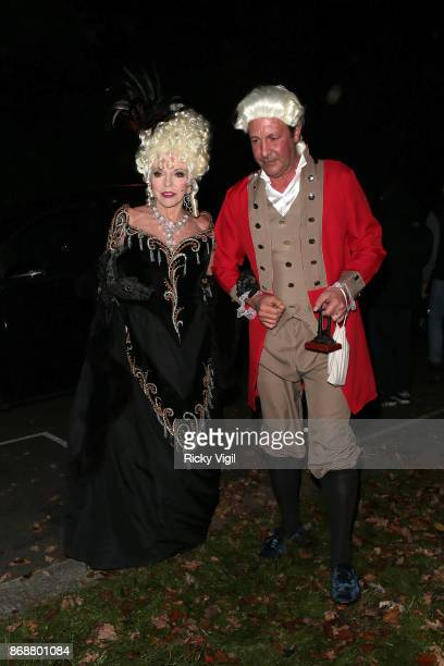 Joan Collins seen attending Jonathan Ross Halloween party on October 31 2017 in London England