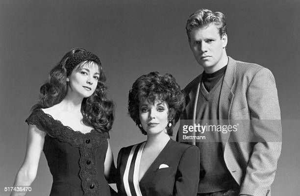 Joan Collins stars as Alexis Colby and Emma Samms and Al Corley as her children in Dynasty The Reunion a new fourhour television event airing as an...