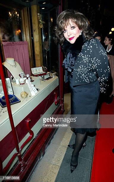 Joan Collins turns on the Christmas lights at the Burlington Arcade on November 20 2007 in London England