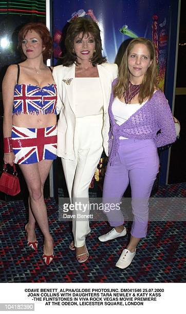 Joan Collins With Daughters Tara Newley Katy Kass The Flintstones In Viva Rock Vegas Movie Premiere At The Odeon Leicester Square London