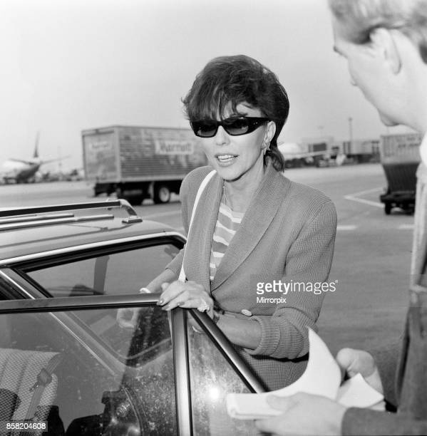 Joan Collins with her son Sacha arriving at Heathrow from Los Angeles 8th September 1983