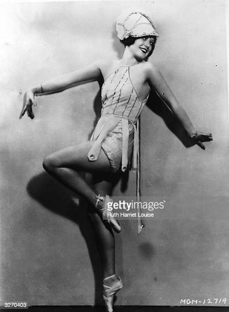 Joan Crawford the screen name of Lucille Le Sueur who was also known for a time as Billie Cassin She is wearing a stage costume and ballet shoes