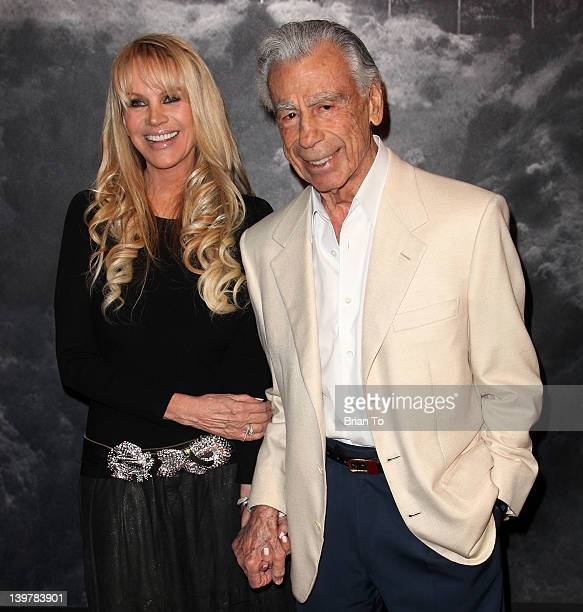 Joan Dangerfield and Kirk Kerkorian attend Joan Dangerfield hosts dinner reception at her private residence for Chinese delegation's official US...