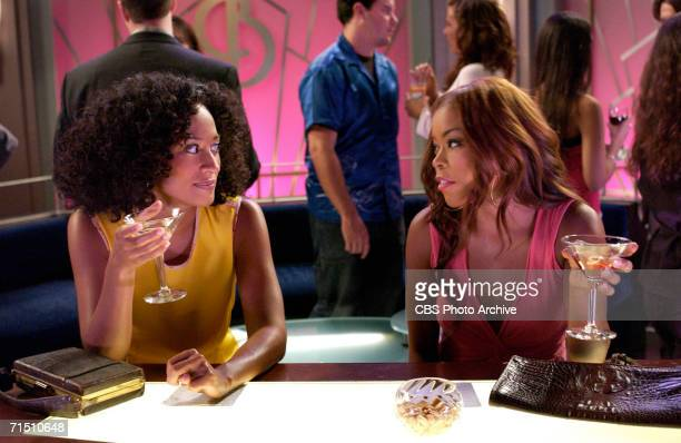 Joan enjoys a drink with Maya as they discuss Joan's predicament with William in GIRLFRIENDS on The CW.