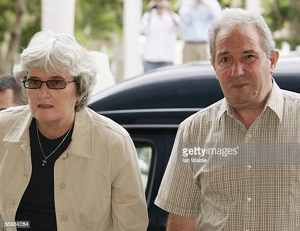 Joan Falconio and Luciano Falconio the parents of Peter Falconio arrive at the Northern Territory Supreme Court for his murder trial October 17 2005...