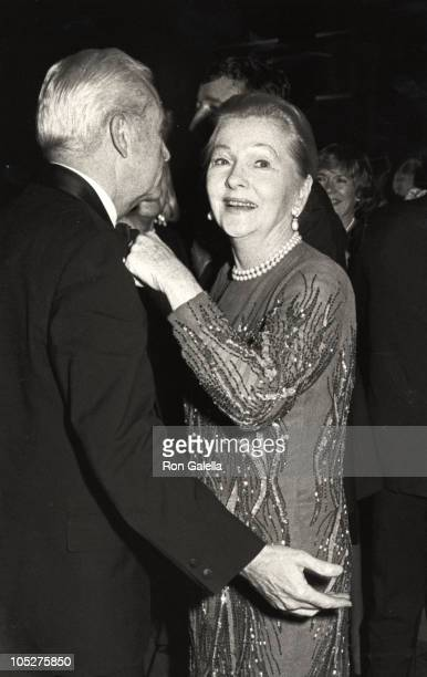 Joan Fontaine Date during 3rd Annual Astaire Awards at Rainbow Room in New York City New York United States