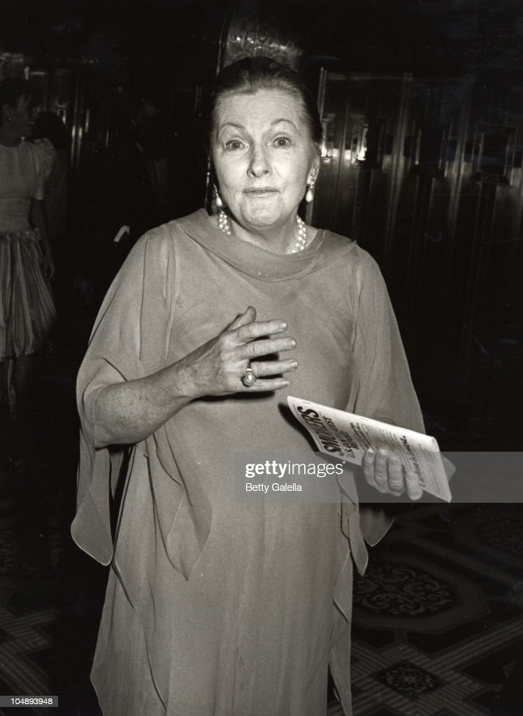 Joan Fontaine during 36th Annual Tony Awards Party at Waldorf Astoria Hotel in New York City, New York, United States.