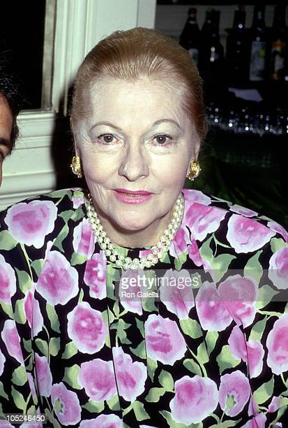 Joan Fontaine during 48th Golden Apple Awards at Beverly Wilshire Hotel in Beverly Hills California United States