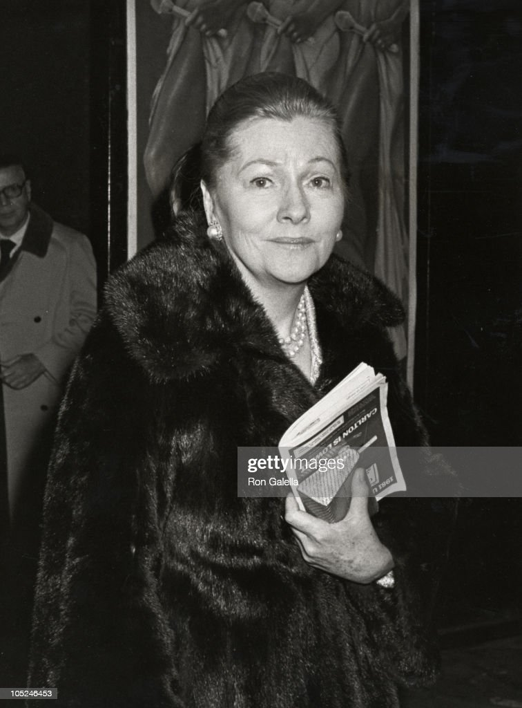 Joan Fontaine during Opening of 'West Side Waltz' at Barrymore Theater in New York City, New York, United States.