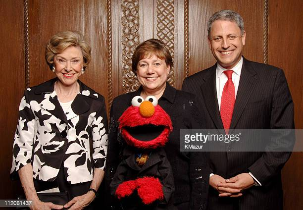 Joan Ganz Cooney, Sesame Workshop founder and event co-chair, Ann M. Veneman, executive director, UNICEF, Elmo and Gary Knell, president and chief...