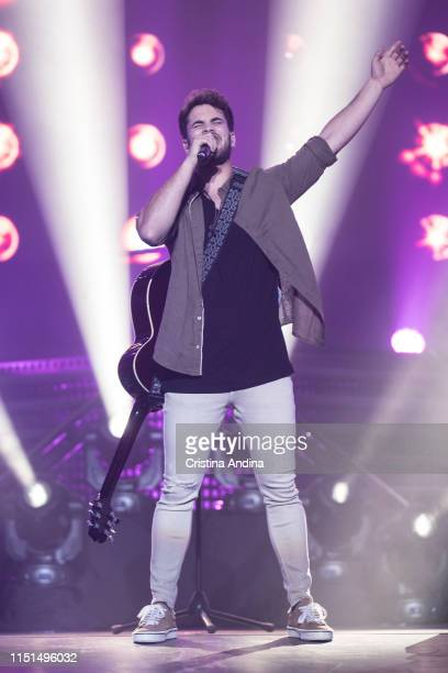 Joan Garrido performs on stage during OT Tour 2019 on May 24, 2019 in A Coruña, Spain.