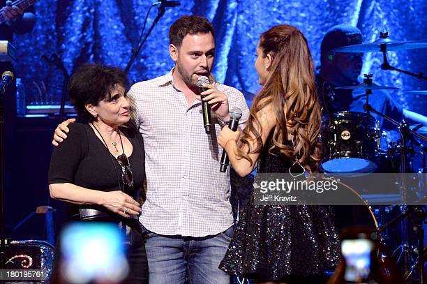 Joan Grande Scooter Braun and Ariana Grande performs at Club Nokia on September 9 2013 in Los Angeles California