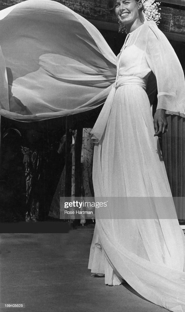 Joan Hemingway In Dior Wedding Gown Pictures | Getty Images