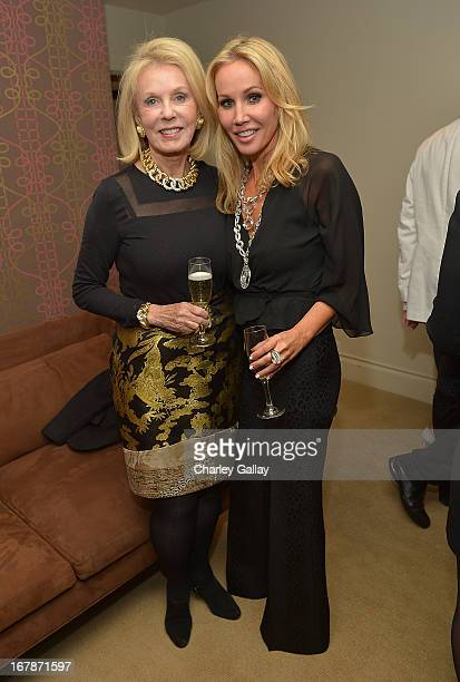 Joan Hodgkiss and Brooke Davenport attend the David Webb Dinner in honor of LAXART at Sunset Tower on May 1 2013 in West Hollywood California