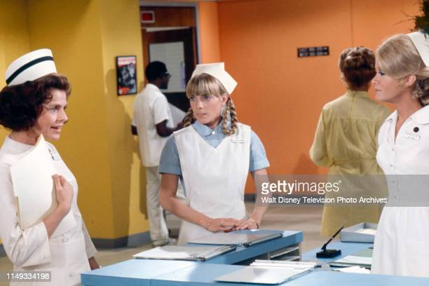 Joan Hotchkis Nancy Fox Joan Van Ark appearing on the ABC tv series 'The New Temperatures Rising Show' episode 'The New Head Nurse'