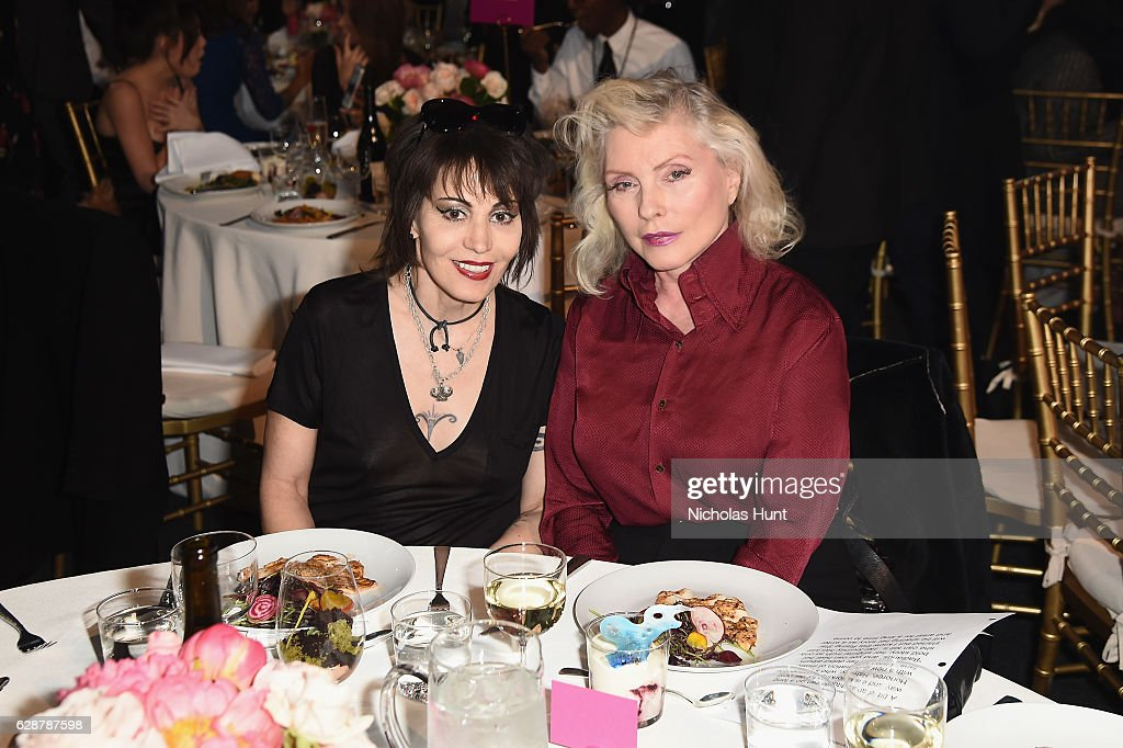 Joan Jett and Debbie Harry attend the Billboard Women in Music 2016 event on December 9, 2016 in New York City.
