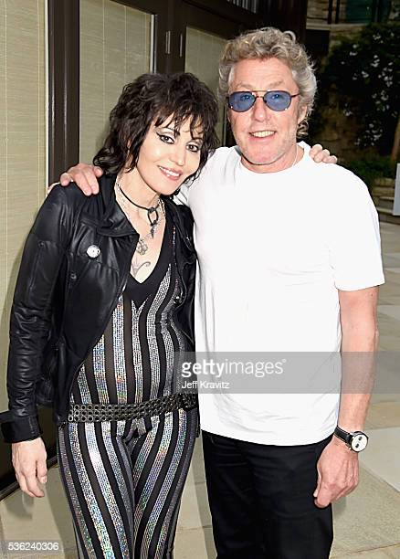Joan Jett and Roger Daltrey attend WHO Cares About The Next Generation at a private residence on May 31 2016 in Pacific Palisades City