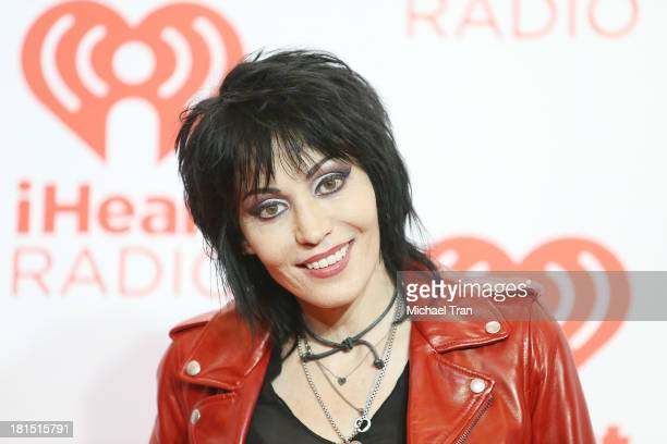 Joan Jett arrives at the iHeartRadio Music Festival press room Day 2 held on September 21 2013 in Las Vegas Nevada