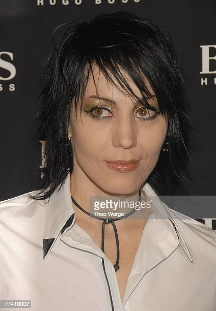 Joan Jett at the BOSS Black Spring 2008 Fashion Show at the Cunard Building in New York City on October 17, 2007