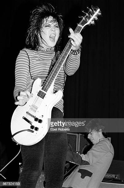 Joan Jett at the Capitol Theater in Passaic, New Jersey on April 11, 1981.
