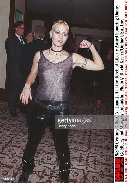 Joan Jett at the Torch Of Liberty Award honoring Danny Goldberg and Margery Tabankin in Century City CA September 8 1998